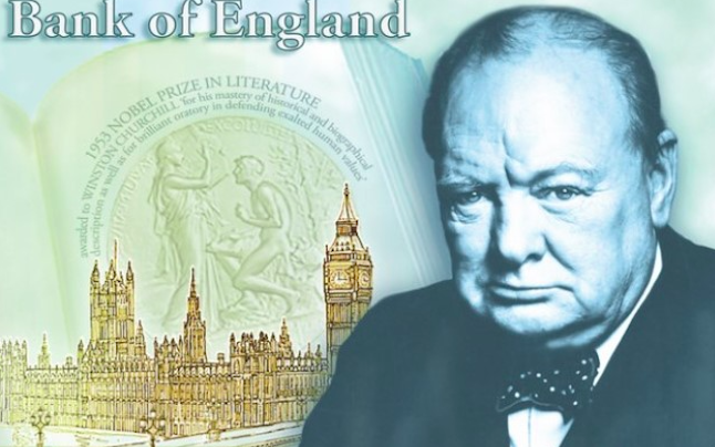 William Churchill aims to be  the next face of the new five pound note. The note is expected to look like this (above). ©TapInfo