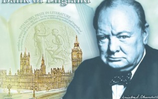 William Churchill is the face of the new five pound note. The note is expected to look like this (above). TapInfo