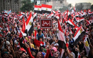 For the mass of Egyptians, democracy does not lead to violence and disorder instead peace. Credit Photographer Mosa'ab Elshamy