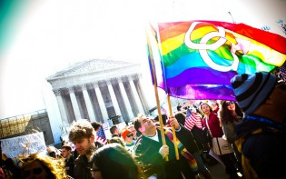 Marriage rally outside the Supreme Court ©StephenLukeEdD, flickr