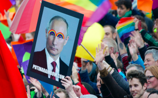 Putin's legislation sparks a reaction from equal rights campaigners, credits to @Edwin de Jongh