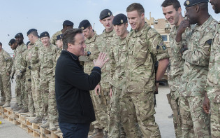 David Cameron visits British troops in Afghanistan. credit@ by the Prime Minister's Office
