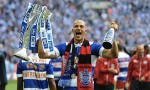 QPR goalscorer Bobby Zamora celebrates after the Championship Play-Off Final credit@officialqpr.twitter