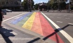 The new rainbow crossing is similar to ones that have appeared in Tel Aviv, Sydney and Brighton. Image credit - http://upload.wikimedia.org/wikipedia/commons