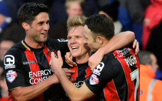 Bournemouth topped the Championship with a 5-3 win over Cardiff. credit@afcbournemouth via Twitter
