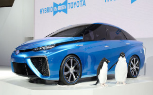 The Toyota Mirai, meaning 'future' in Japanese, is launching in Japan on 15th December and is set to be the world's first mass-produced fuel cell car. Image credit - en.wikipedia.org