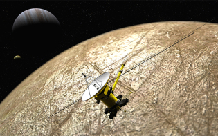 Artist rendition of Clipper spacecraft over Europa. Credit@KevinGill