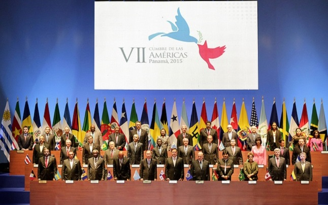 The leaders from across North, Central and South America who took part in the Summit of the Americas in Panama. Credit@Presidencia de la Republic del Ecuador.