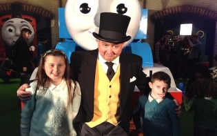 My sister and I got to meet the conductor! What a fun day out!